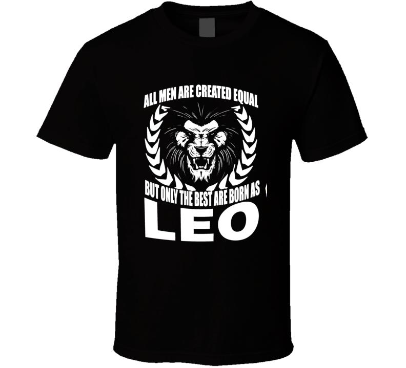 Leo Zodiac t shirt July August born t-shirt men t-shirt