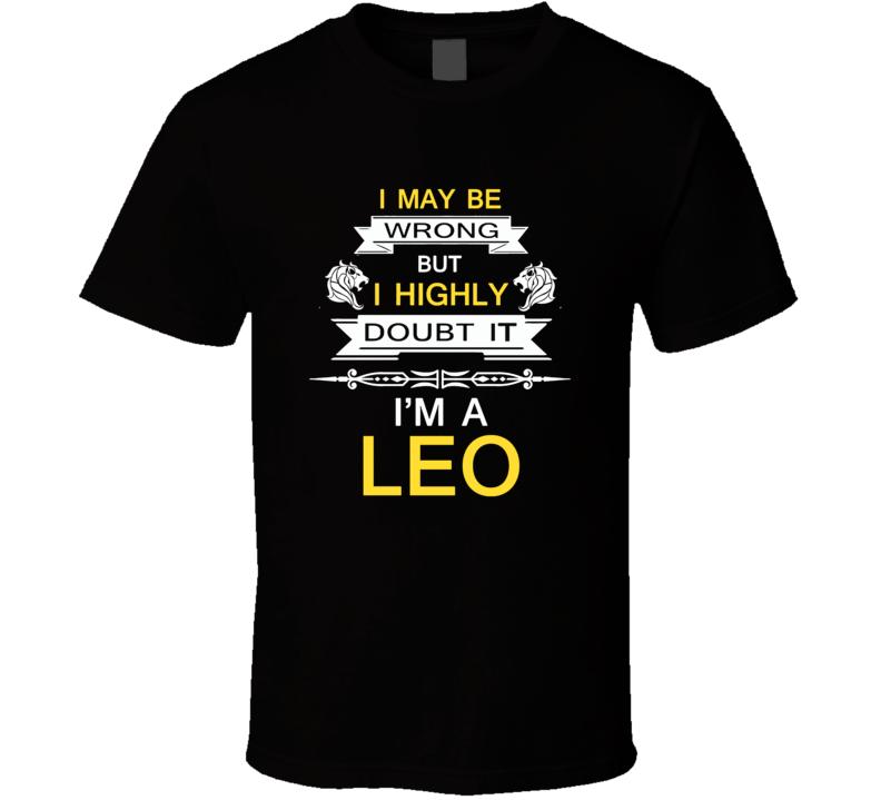 Leo Zodiac t shirt July August born t-shirt men women tee c