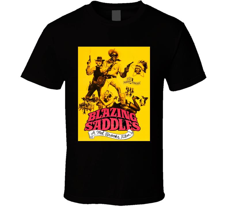 Blazing Saddles 70s Classic Comedy Movie Poster  Cool  T shirt b