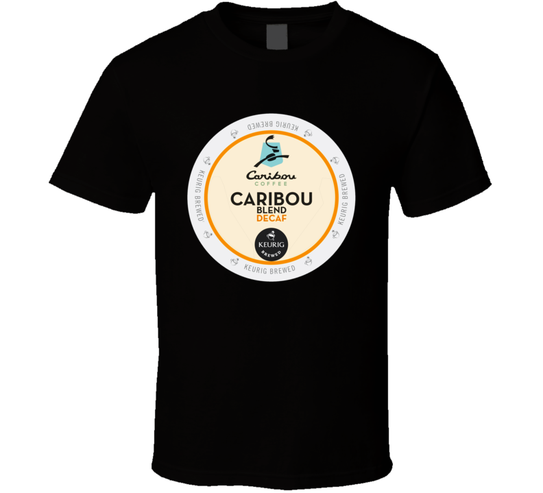 Caribou Coffee Label  T shirt