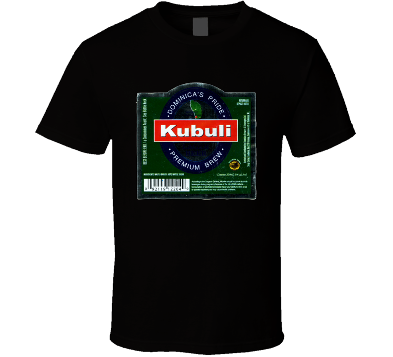 Kubuli Beer Lager Dominican Republic Distressed image T shirt