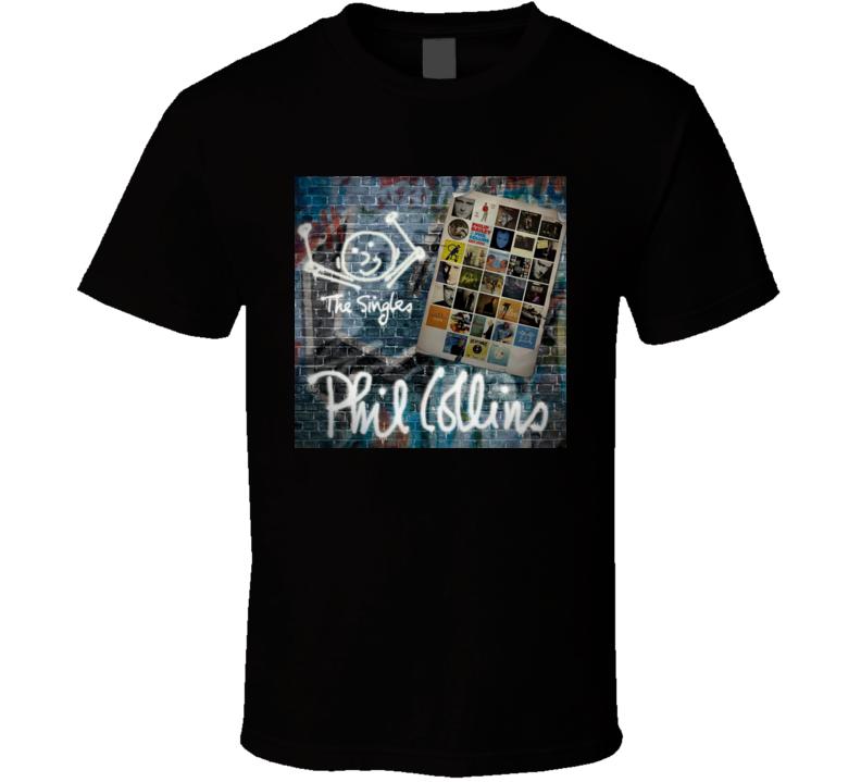 The Singles Phil Collins Album T shirt