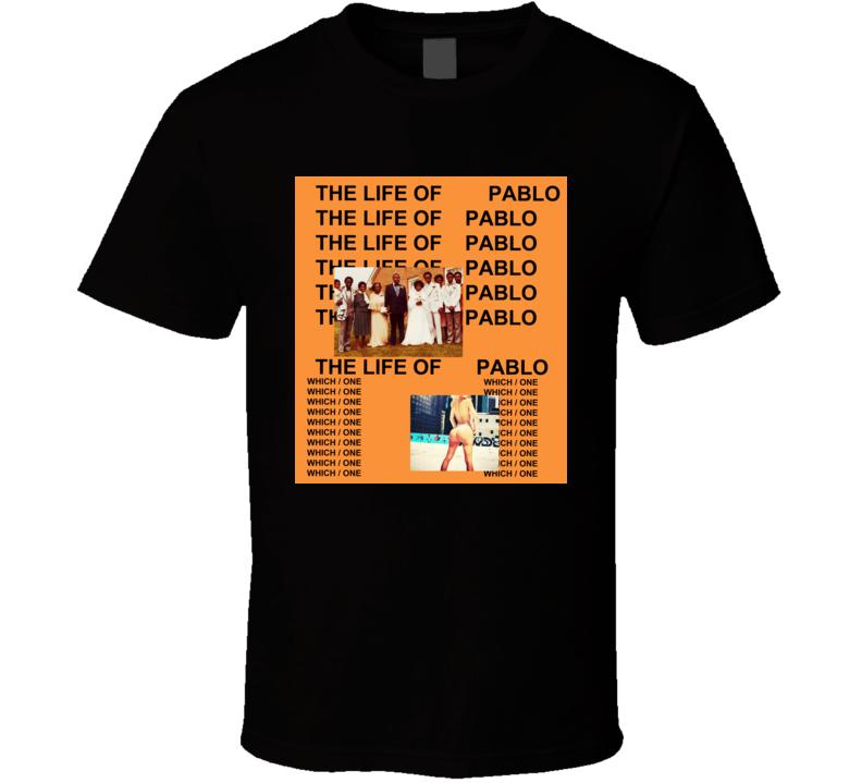Kanye West The Life Of Pablo Album t shirt