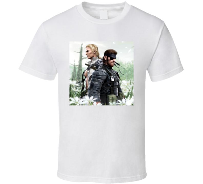 metal gear solid 3 snake eater games t shirt
