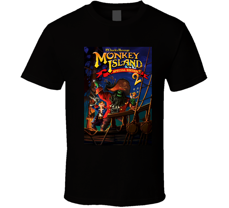 Monkey Island 2 games t shirt