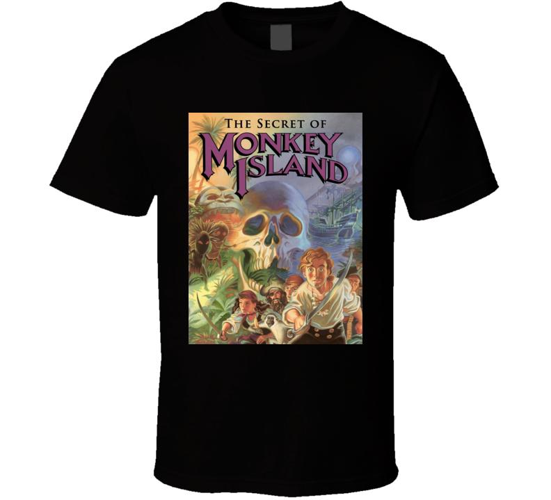 secret of monkey island games t shirt