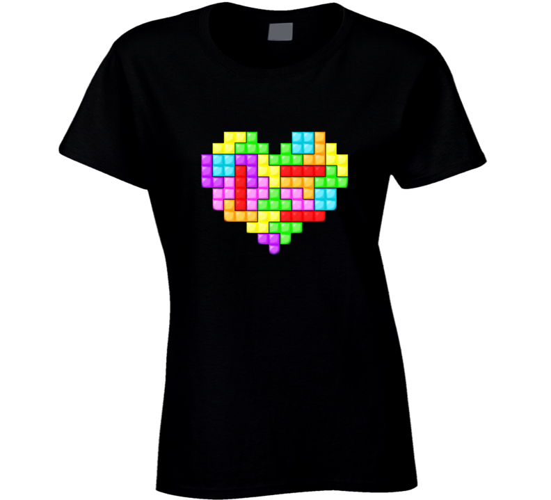tetris valentine's day games t shirt
