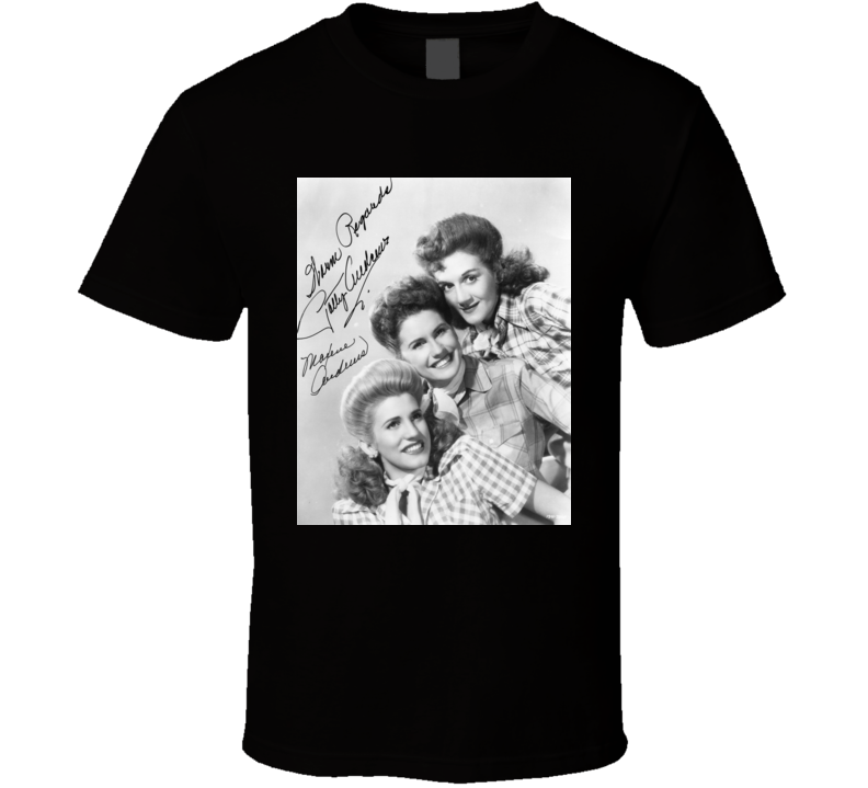 Andrews Sisters Gordon Jenkins I Wanna Be Loved t shirt
