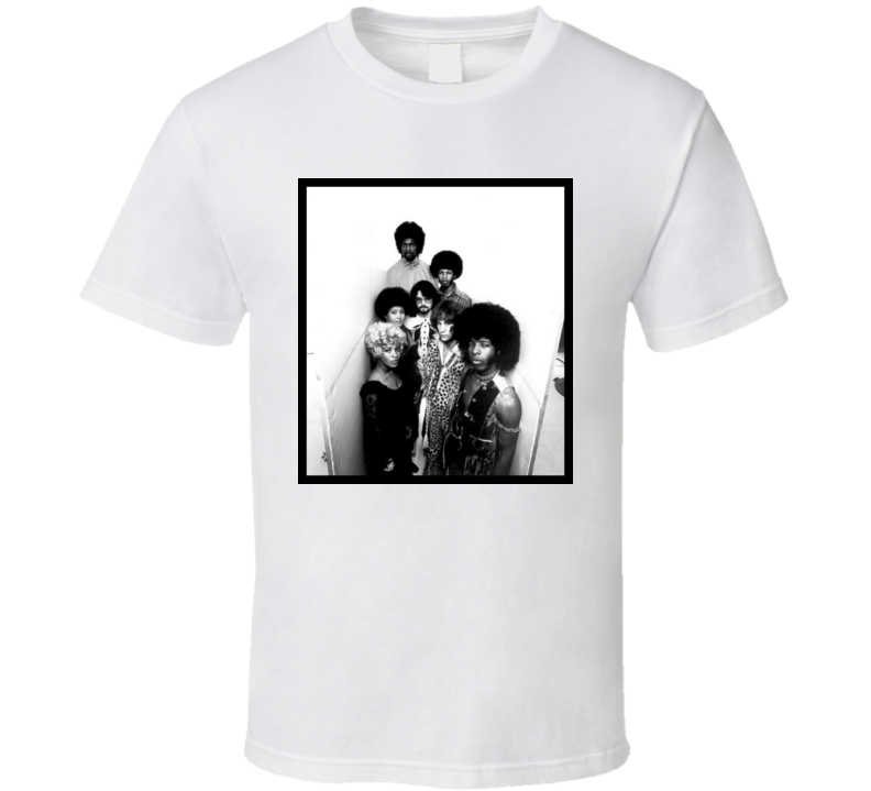 Sly and The Family Stone Thank You Fallettin Me Be Mice Elf Again t shirt