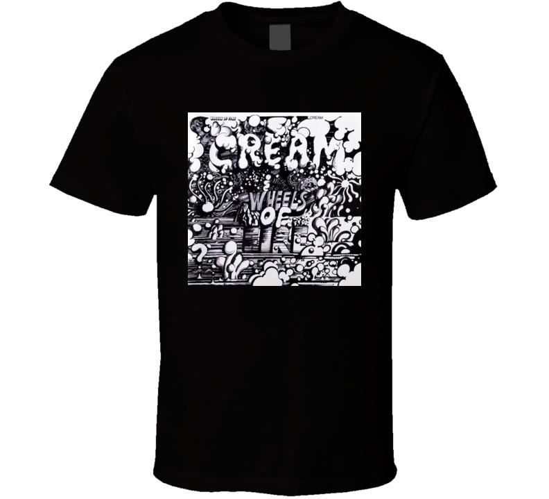 Cream Wheels Of Fire Album T Shirt