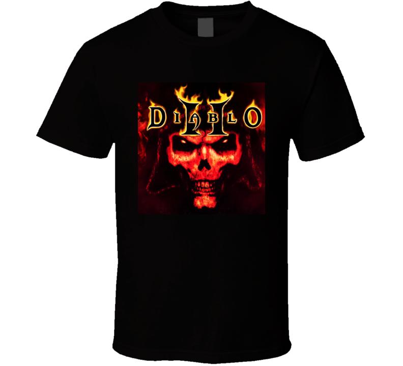Diablo 2 Game Poster Blizzard   Copy T Shirt