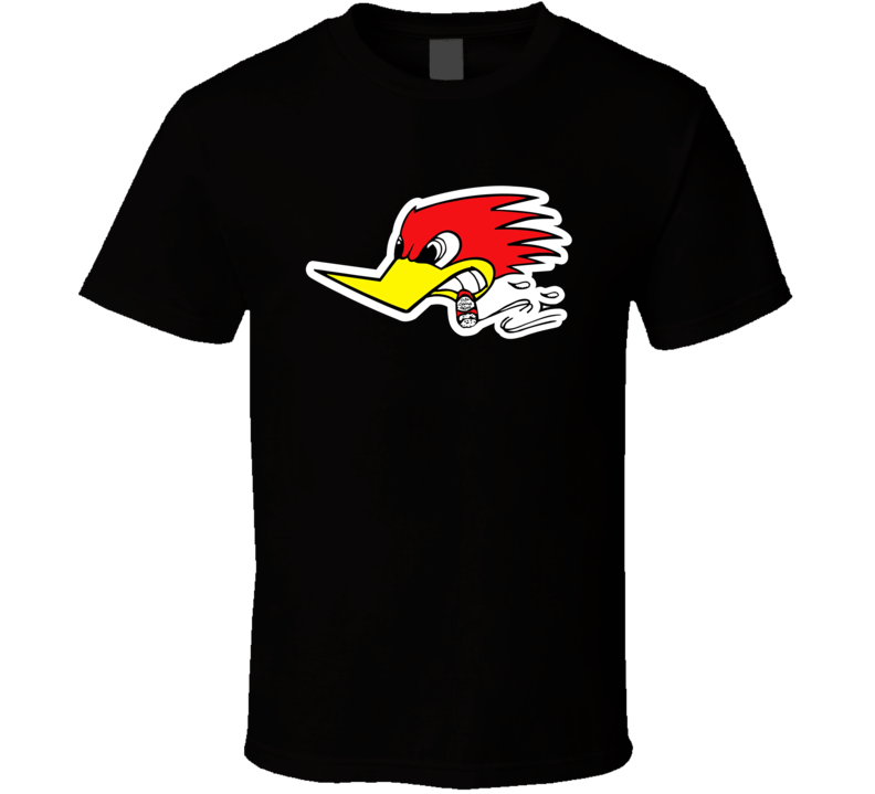 Racing Smoking Woodpecker T Shirt