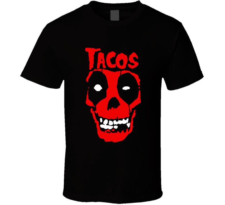Tacos Skull Halloween T Shirt