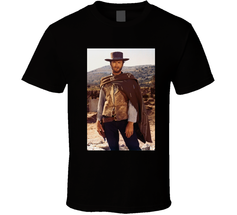The Man With No Name Cowboy Western Movies Clint Eastwood T Shirt