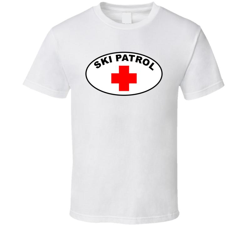 Ski Patrol Decals T Shirt