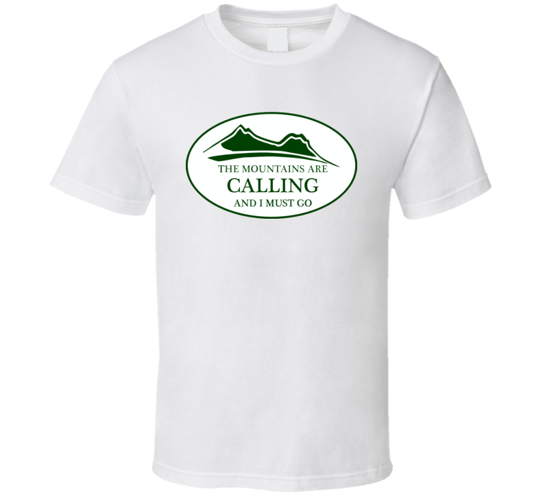Mountains Are Calling Oval Decals T Shirt