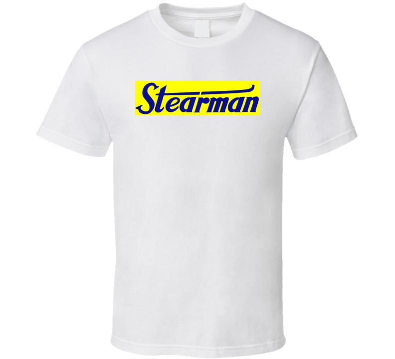 Stearman Fly The Legend Logo T Shirt