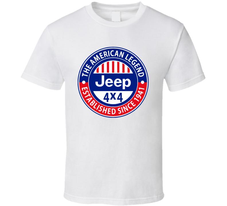 Jeep Legend Decals T Shirt