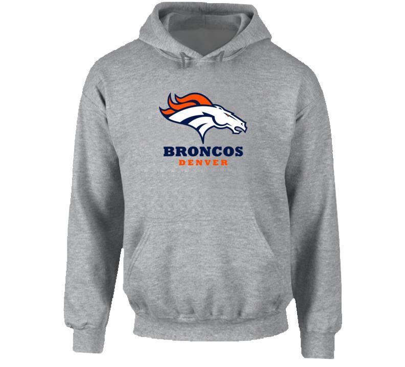 Denver Broncos Hooded Pullover Grey