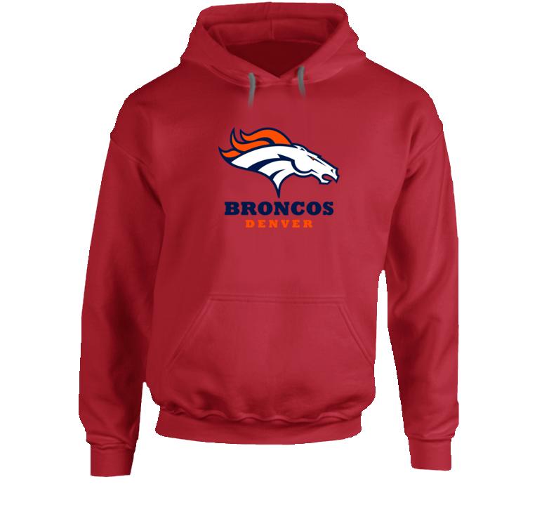 Denver Broncos Hooded Pullover Red