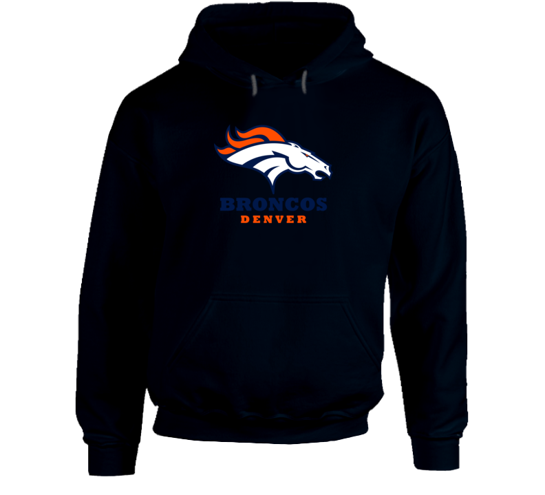Denver Broncos Hooded Pullover Navy