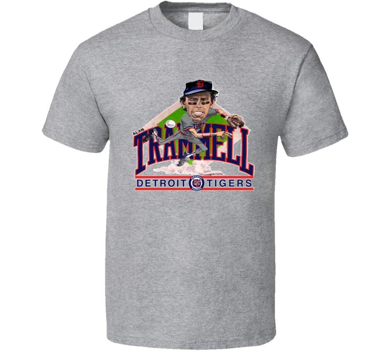 Alan Trammell Detroit Baseball Caricature T Shirt