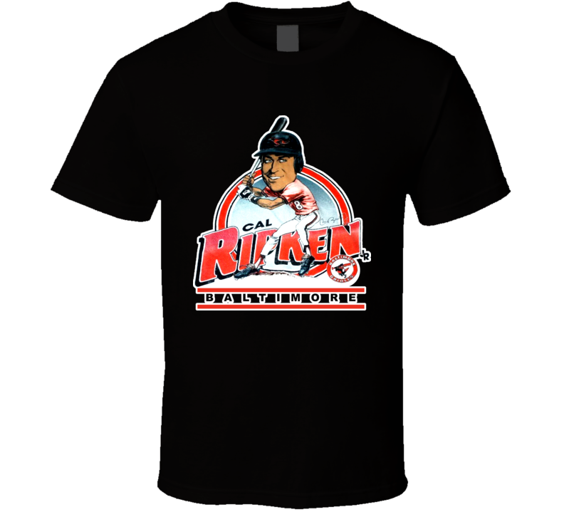 Cal Ripken Retro Baseball Caricature T Shirt