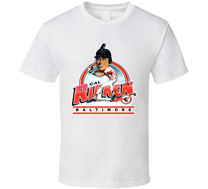 Cal Ripken Retro Baseball Caricature T Shirt