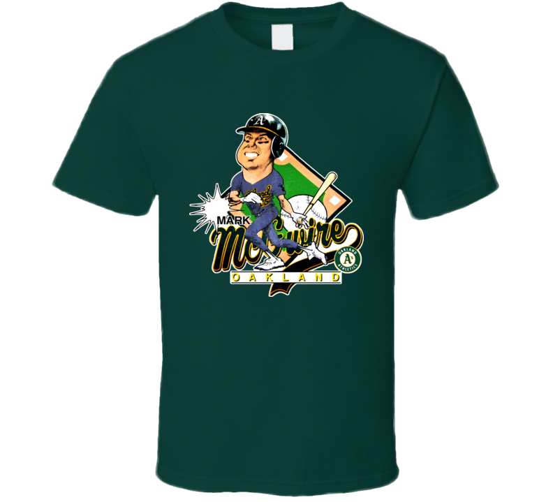 Mark Mcgwire Retro Baseball Caricature T Shirt
