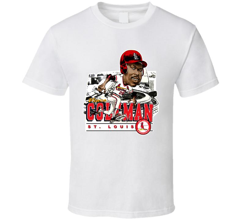Vince Coleman Retro Baseball Caricature T Shirt