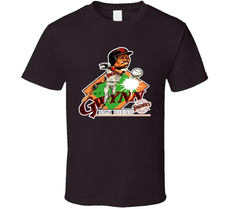 Tony Gwynn Retro Baseball Caricature T Shirt