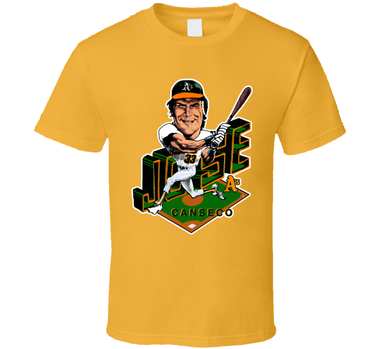 Jose Canseco Retro Baseball Caricature T Shirt