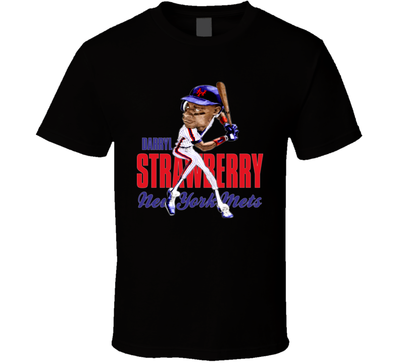 Darryl Strawberry Retro Baseball Caricature T Shirt