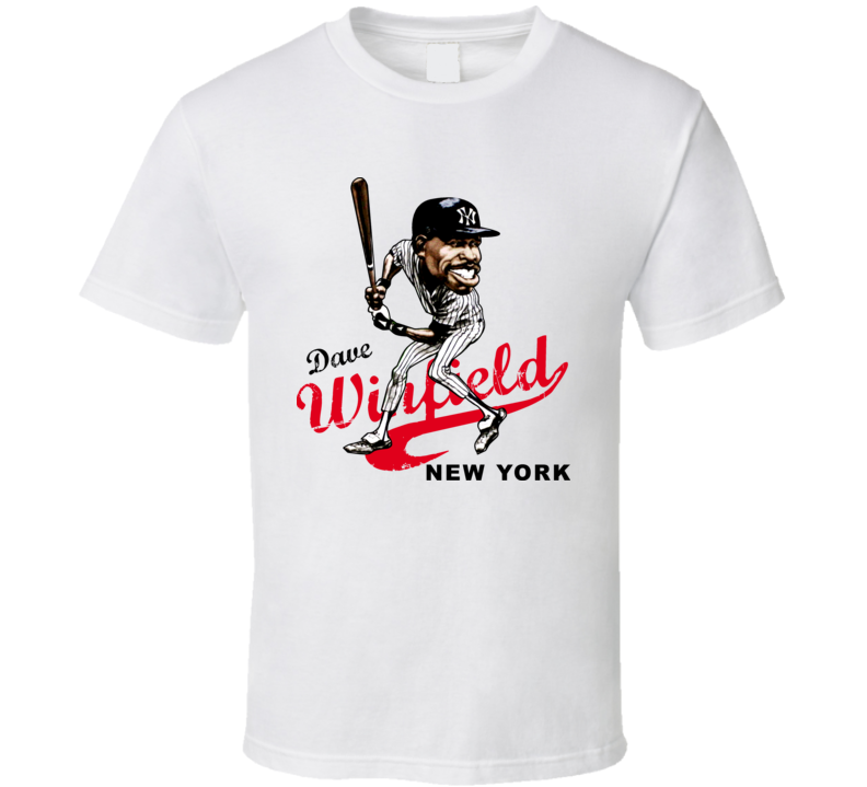 Dave Winfield Retro Baseball Caricature T Shirt