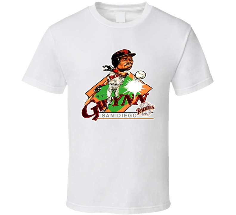 Tony Gwynn Retro Baseball Caricature T Shirt