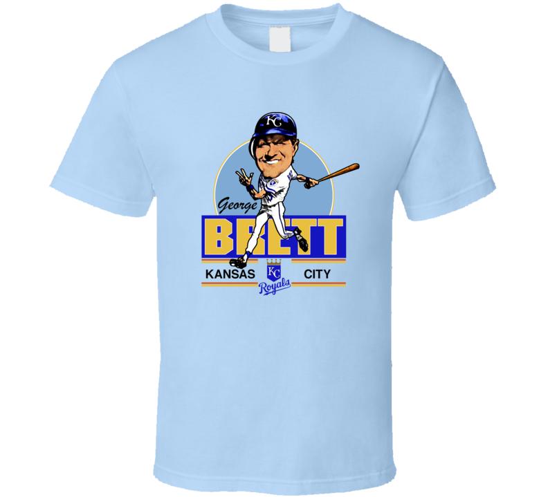 George Brett Retro Baseball Caricature T Shirt