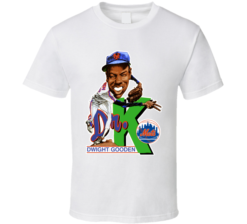 Dwight Gooden Retro Baseball Caricature T Shirt