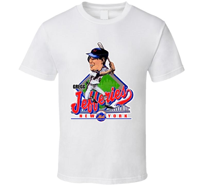 Gregg Jefferies Retro Baseball Caricature T Shirt
