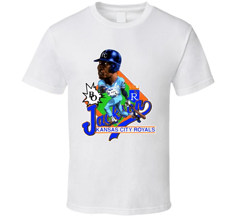 Bo Jackson Retro Baseball Caricature T Shirt