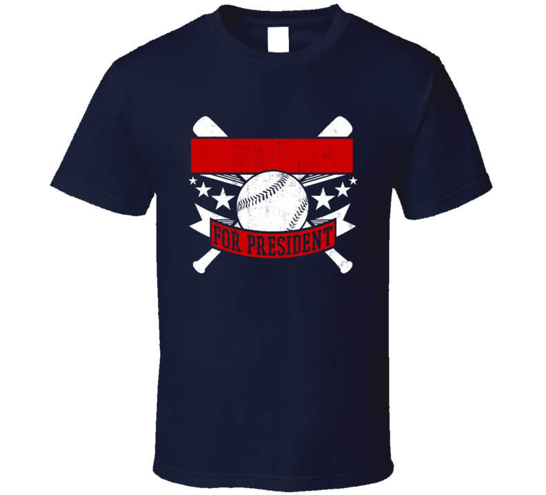 Mike Dela Hoz For President Cleveland Baseball Player Funny T Shirt