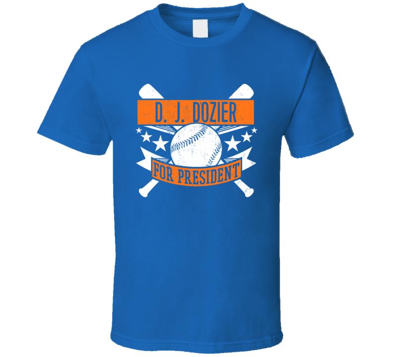 D. J. Dozier For President New York Baseball Player Funny T Shirt