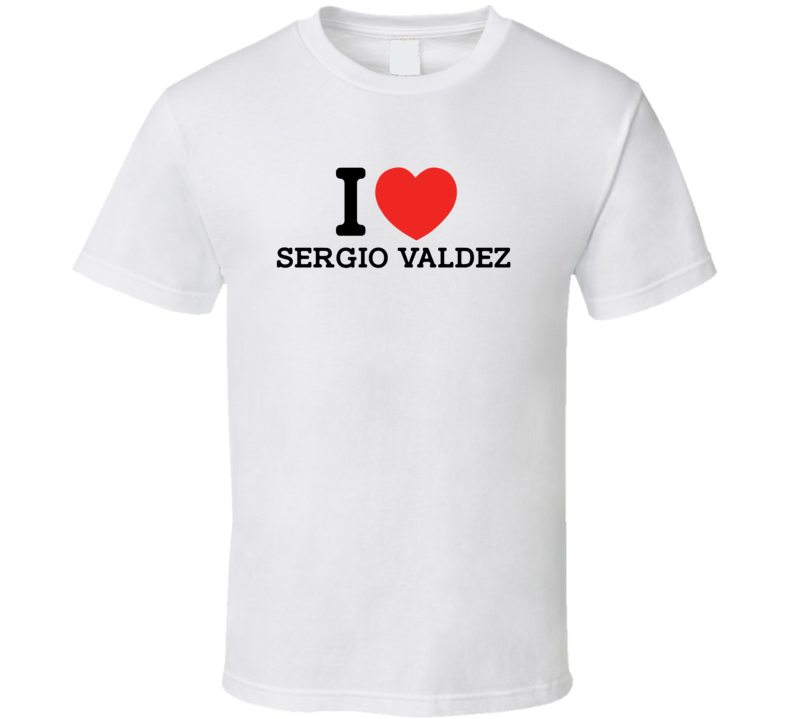 I Heart Sergio Valdez Boston Baseball Player Classic T Shirt