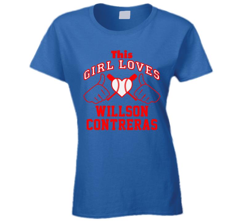 This Girl Loves Willson Contreras Chicago CHI Baseball Player Classic T Shirt