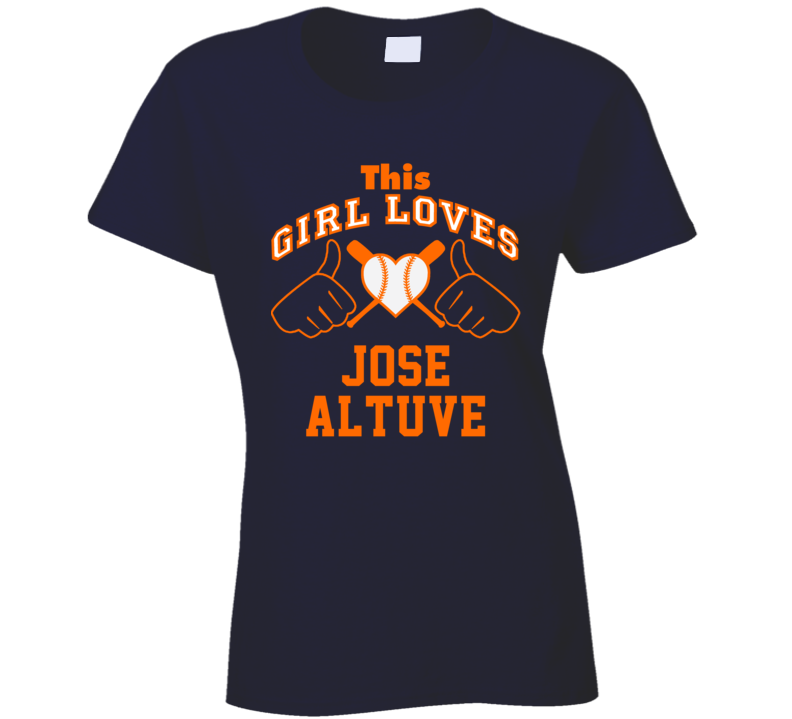 This Girl Loves Jose Altuve Houston Baseball Player Classic T Shirt