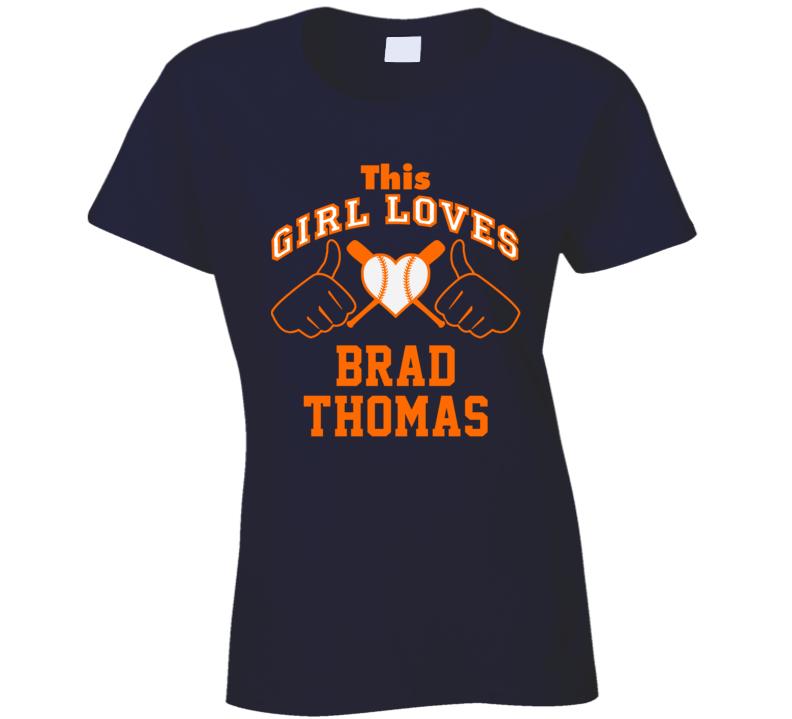 This Girl Loves Brad Thomas Detroit Baseball Player Classic T Shirt