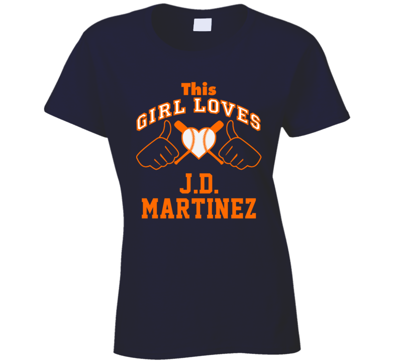 This Girl Loves J.D. Martinez Detroit Baseball Player Classic T Shirt