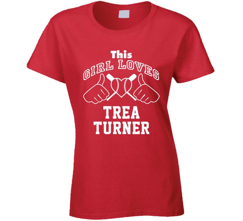 This Girl Loves Trea Turner Washington Baseball Player Classic T Shirt