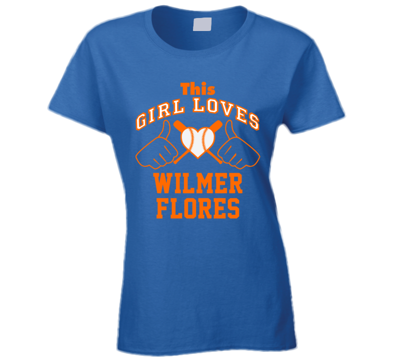 This Girl Loves Wilmer Flores New York Baseball Player Classic T Shirt