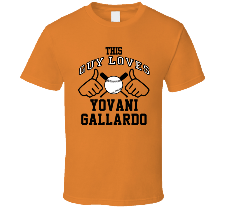 This Guy Loves Yovani Gallardo Baltimore Baseball Player Classic T Shirt