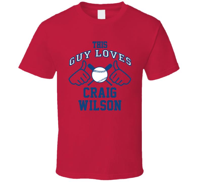 This Guy Loves Craig Wilson Atlanta Baseball Player Classic T Shirt